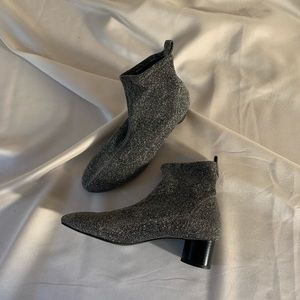 Zara glitter sock ankle boots / great condition